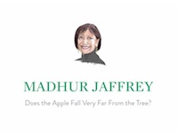 The MADFeed: Madhur Jaffrey, Does the Apple Fall Far from the Tree?