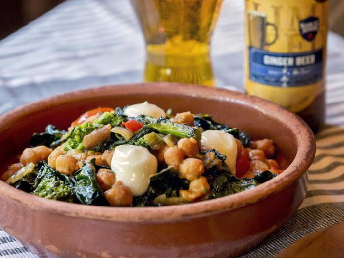 Chickpea & Chorizo with Ginger Beer from Ken Oringer